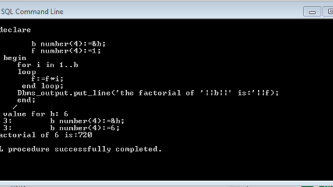 Program to print Factorial using For Loop