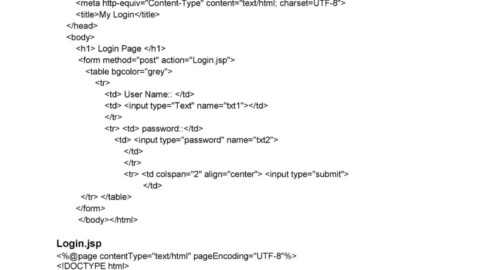 JSP application to authenticate user login as per the registration details