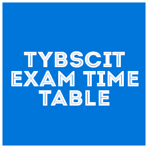 tybscit exam time table