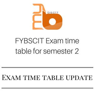 FYBSCIT Semester - 2 Exam Time Table of Mumbai University - April 2017